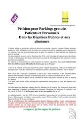 petition parking gratuit hopitaux publics lyon 2019