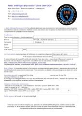 formulaire inscription 2019 2020