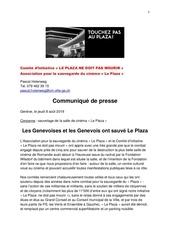 communique de presse plaza