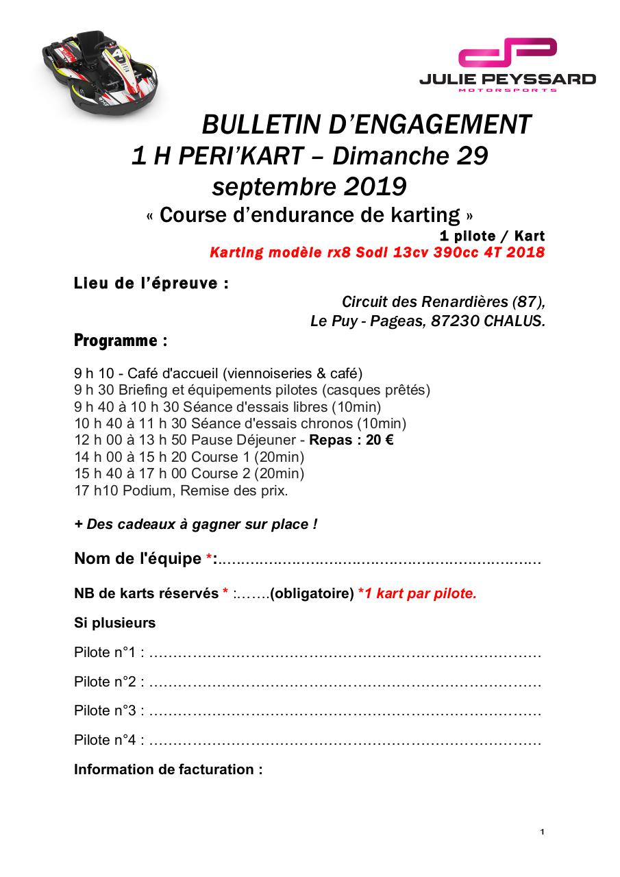 Aperçu du document Bulletin d'engagement - 1H PERI KART .pdf - page 1/2