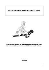 reglement  mini sx