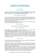 Fichier PDF reglement du jeu facebook magifer   scene sur sambre