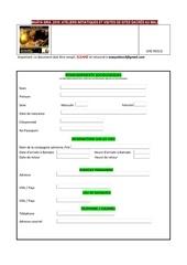 formulaire de participation maya sira2019
