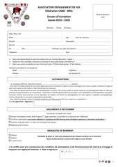 dossier dinscription 2019 2020