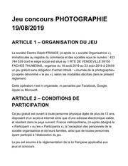 reglement photographie