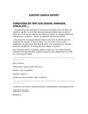 new contrat sample esport