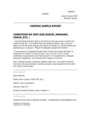 nouveau contrat sample