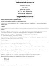 reglement association