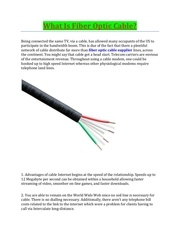 fiber optic cable supplier