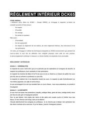 rglement intrieur dck65