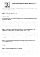 reglement de lepreuve 2019