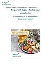 reglement pau marrakech