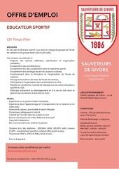 offre d emploi educ u15 u17 n3