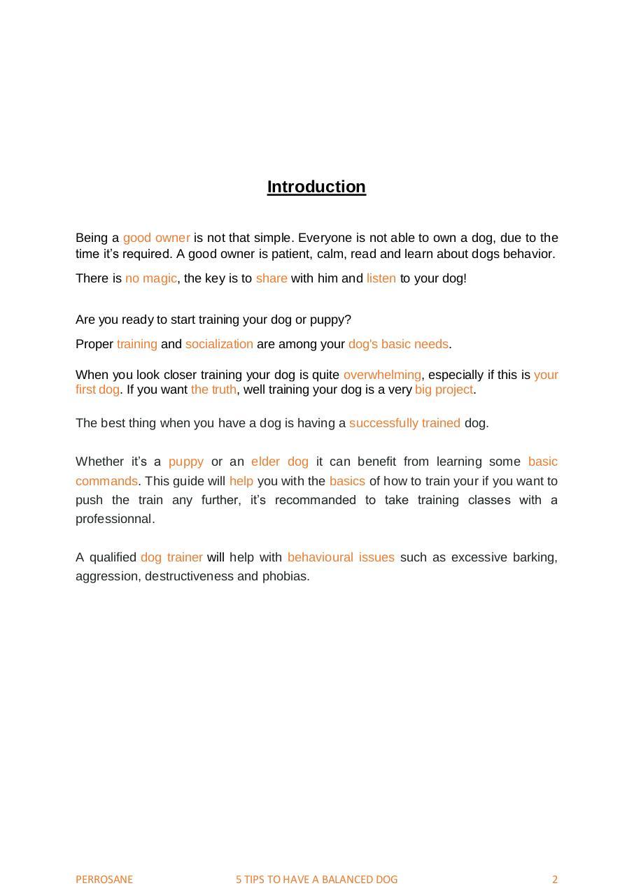 5 Tips to a balanced dog par PerroSane - Fichier PDF