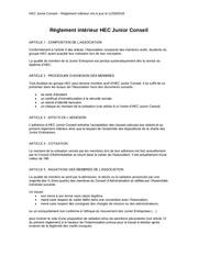 reglement interieur hjc