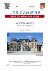cahier n12 aout 2017 le chateau des iris
