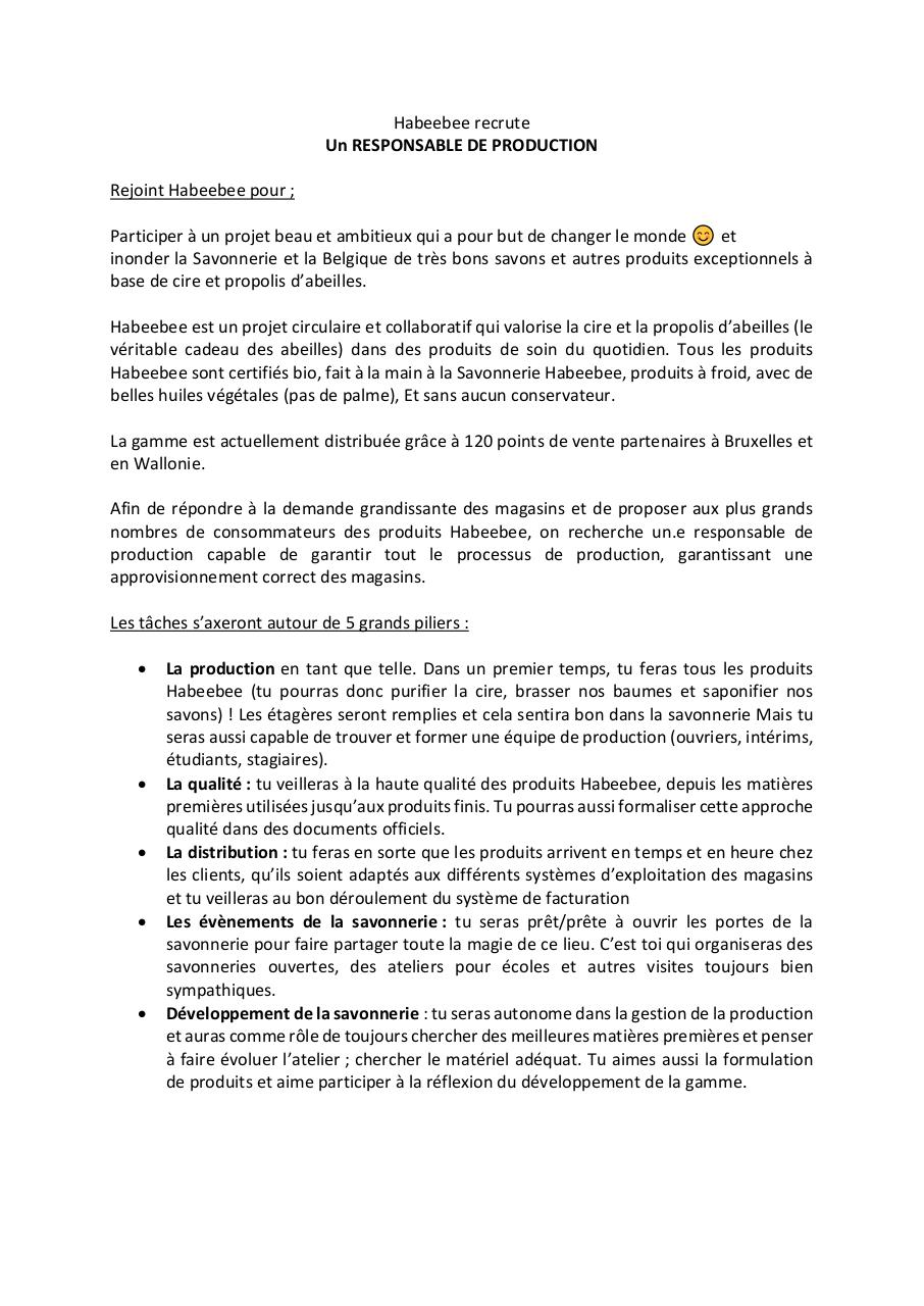 Habeebee recrute_RESPONSABLE PRODUCTION.pdf - page 1/2