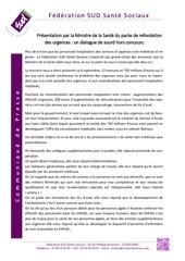 cp suite a la presentation du pacte de refondation des urgences