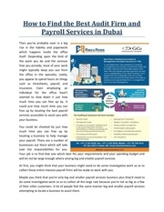how to find the best audit firm and payroll services in dubai