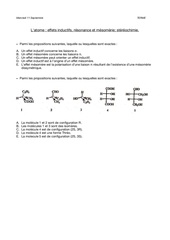 eets inductifs resonance et mesomerie stereochimie