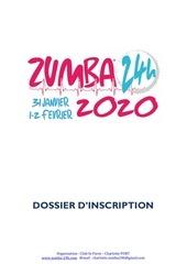 dossier inscription zumba 2020