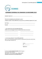 1 bulletin de participation