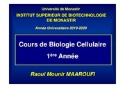 cours bio cell   chap i   1ere a isbm 2019 2020