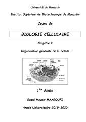 cours polycopie bio cell    chap i   1e a isbm 2019 2020