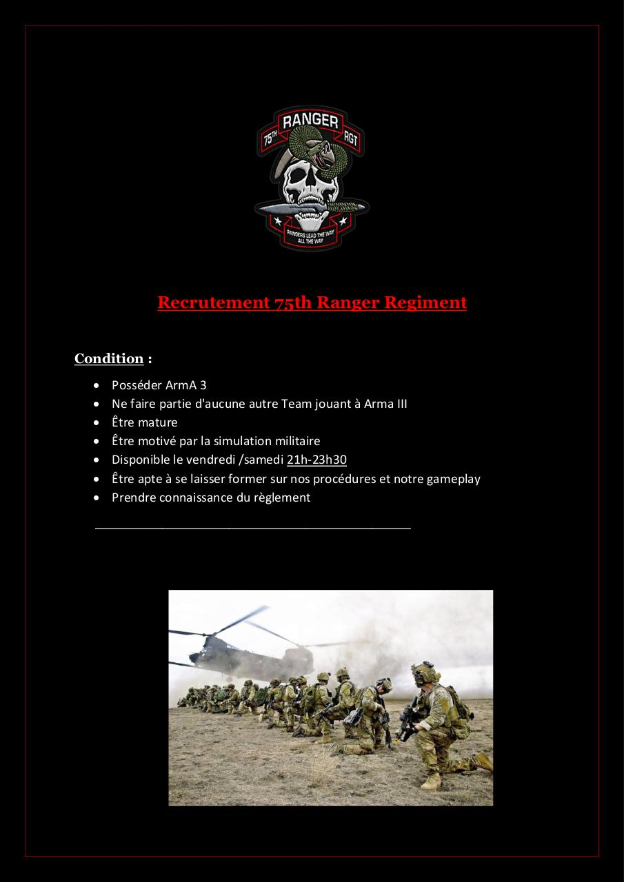 Aperçu du document Recrutement 75th Ranger Regiment.pdf - page 1/2
