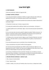 low kick light traduction francais