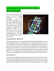 guidelines for ios applications development
