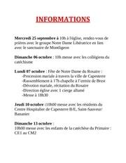 informations oct 22