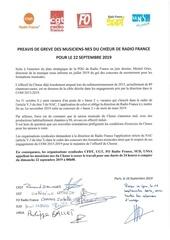 preavis de greve intersyndical   choeur 22 septembre 2019
