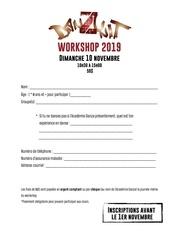 formulaire dinscription   workshop 2019