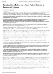 immigration  lettre ouverte de fabien roussel a emmanuel macron