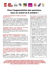 tract action 08 octobre retraites yonne