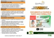 documents et tarifs carte de transp