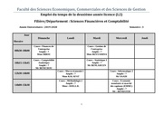 emploi du temps de 2eme annee cours 2019 2020 pdf