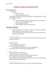 evaluation et pratique de lenseignement du fle