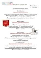 menu semaine 41