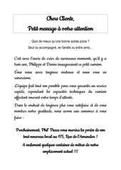 message a lattention de nos clients 1