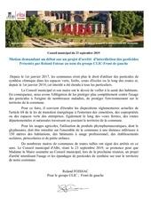 conseil municipale dalbi  arrete dinterdiction des pesticides