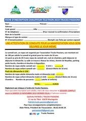 fiche dinscription chauffeur telethon