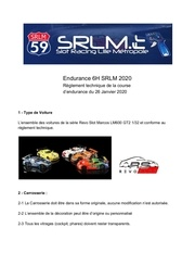 reglement technique course 6h srlm 2020