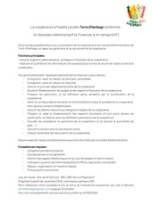 recrutement assistant administratif et financier