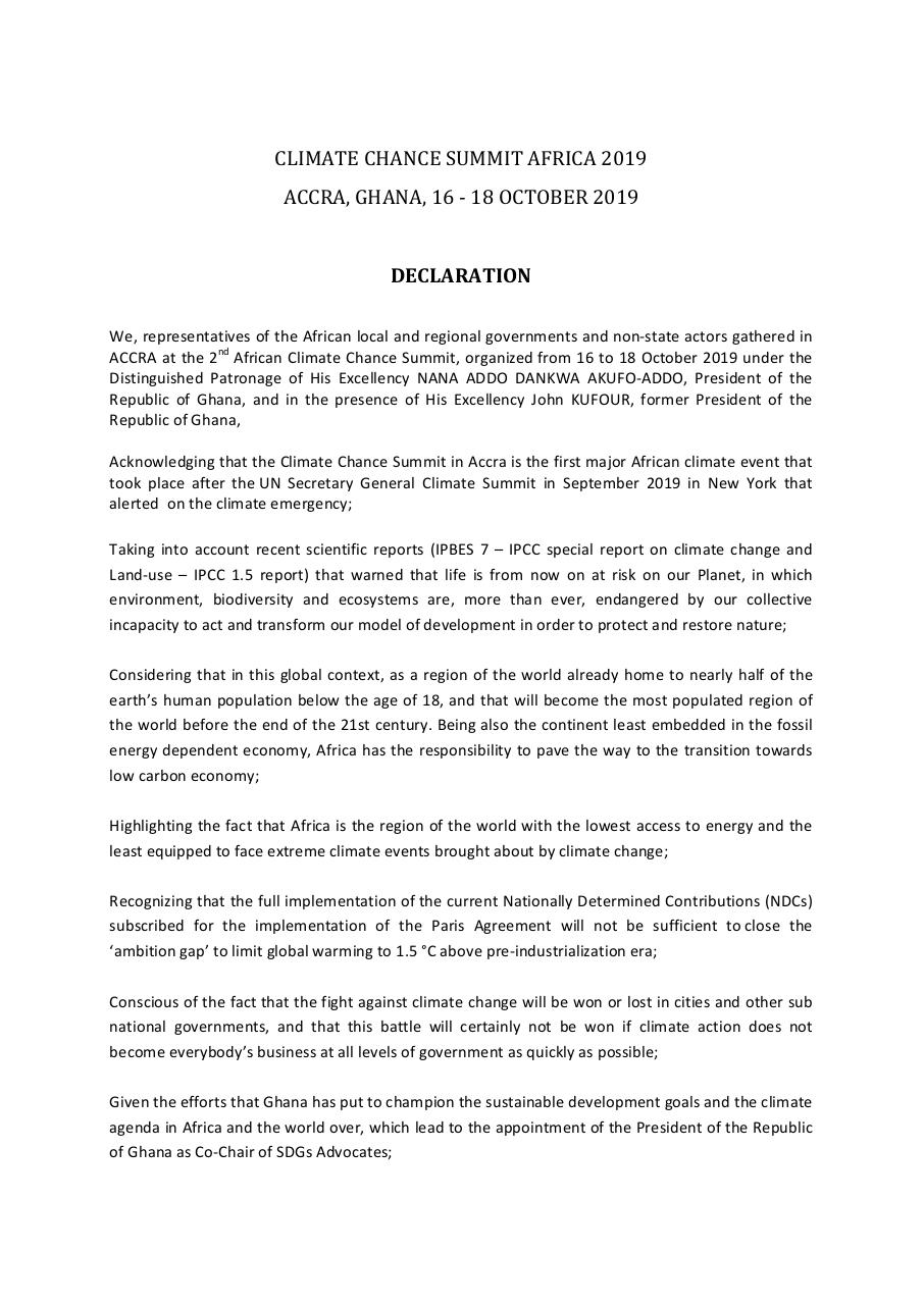 Aperçu du document declaration-of-the-climate-chance-summit-africa-2019-rd.pdf - page 1/3