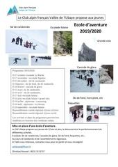 ecole aventure 2019 2020