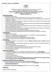 responsable ing formaion agriculture et peche