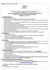 responsable ing formaion sante et paramedical