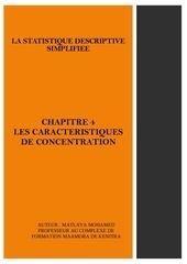 chapitre 4 les caracteristiques de concentration